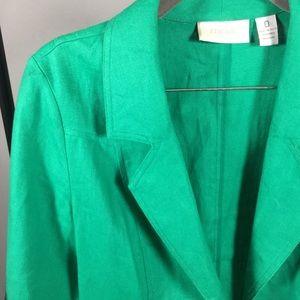 Emerald Green Blazer 100% Linen